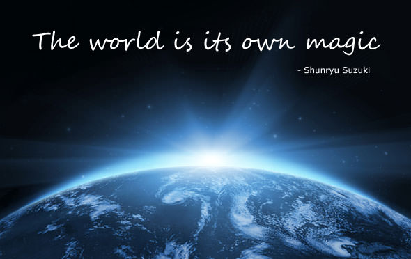 The world is its own magic