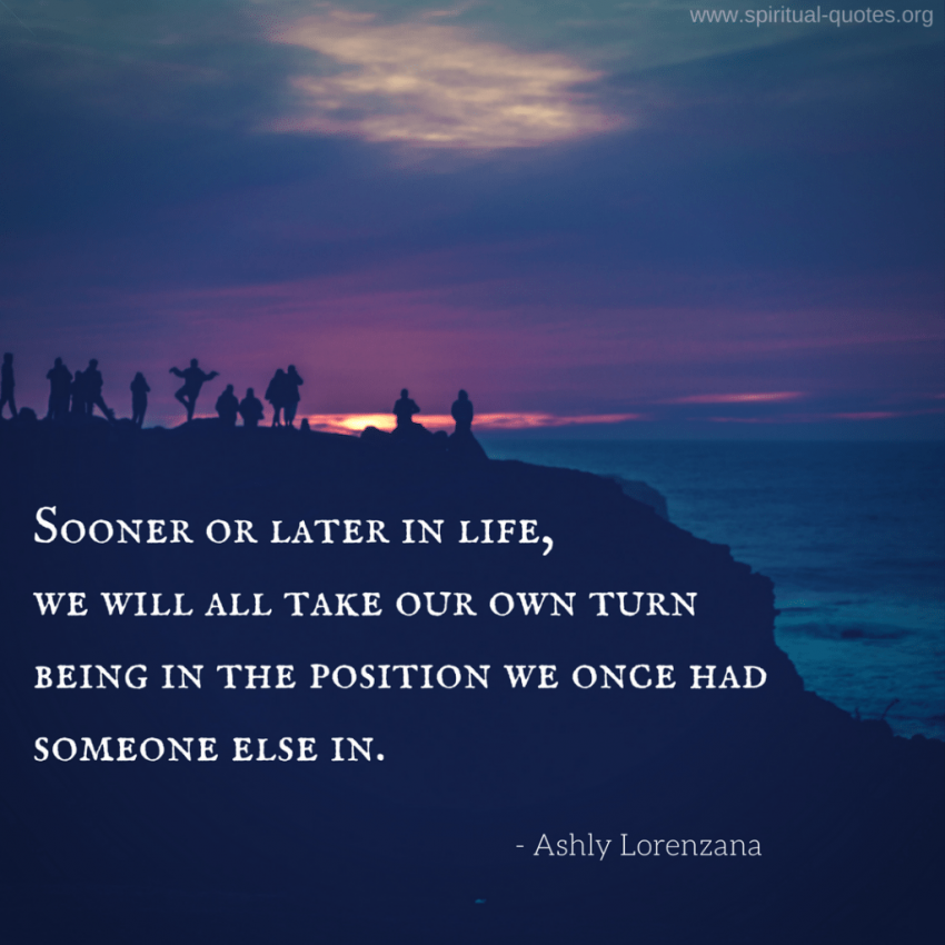 "Ashly Lorenzana Quote ""...being in the position we once had someone else in."""