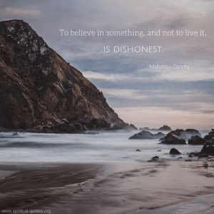 Mahatma Gandhi Quote About Dishonesty