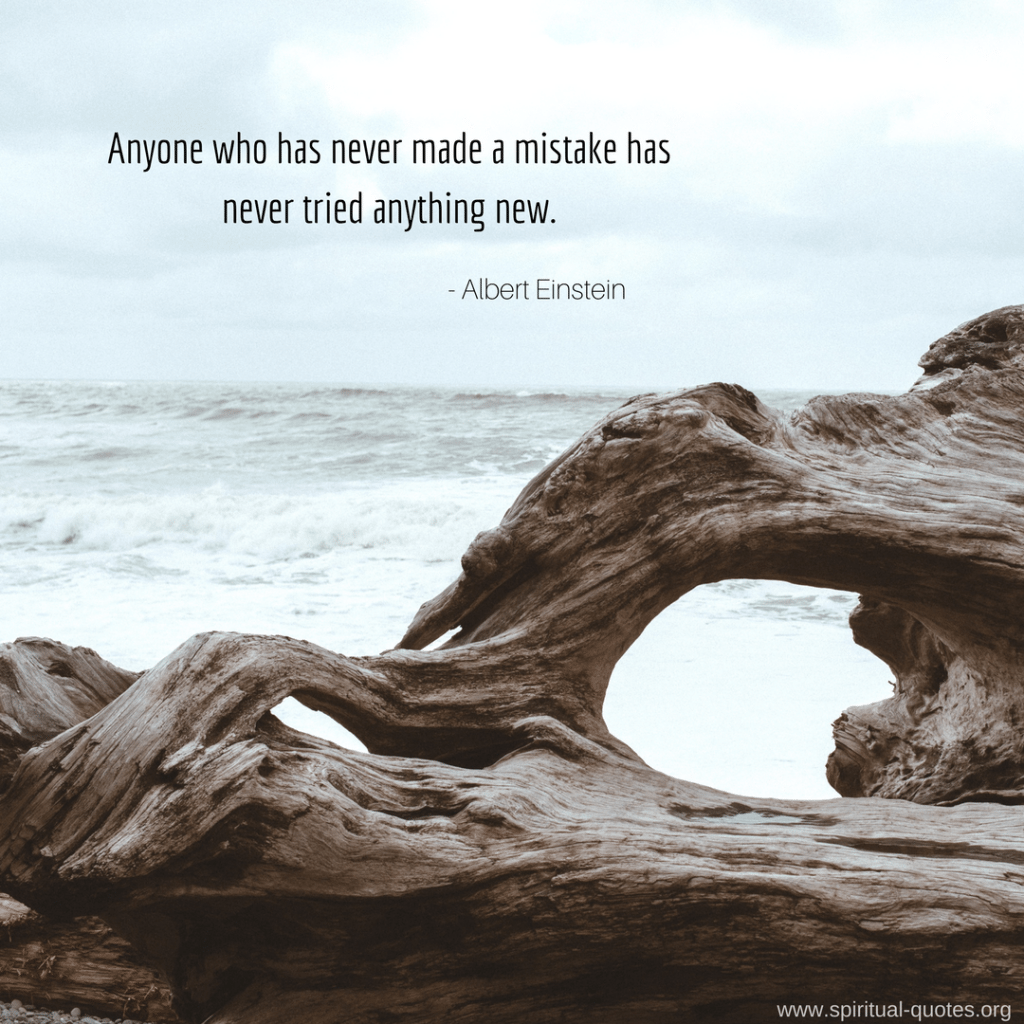 "Albert Einstein Quote ""Anyone who has never made a mistake has never tried anything new."""