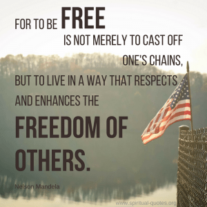 Nelson Mandela Quote on Freedom of Others
