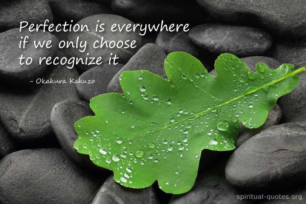 Spiritual quote on perfection