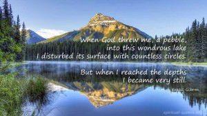 Spiritual Quote about Stillness