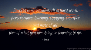 Success Quote - Pele