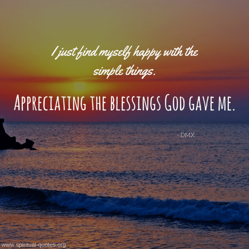 DMX Quote on Blessings