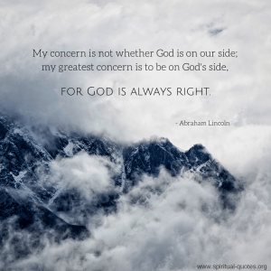 Abraham Lincoln Quote on Religion
