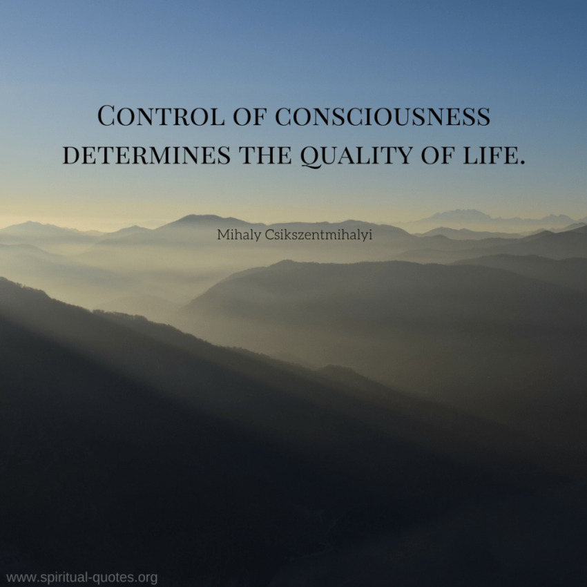 Mihaly Csikszentmihalyi Quote on Consciousness