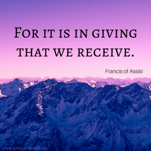 "Francis of Assisi Quote ""For it is in giving that we receive."""